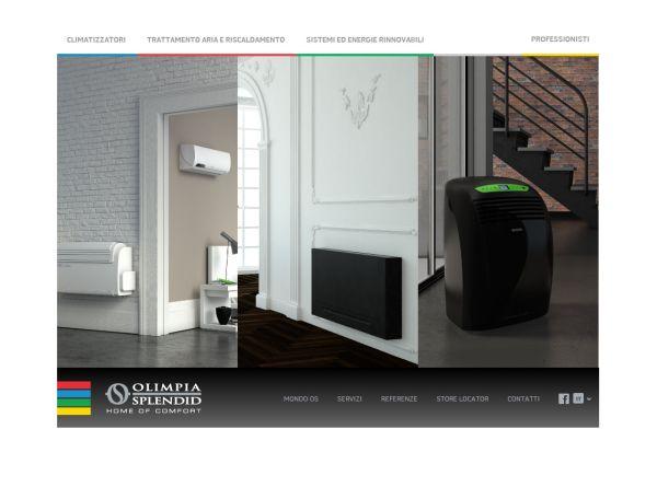 """Nuovo sito Olimpia Splendid, per scegliere il """"clima"""" a propria misura"""