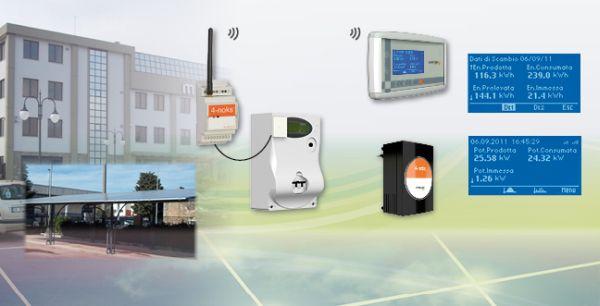 Monitoraggio senza fili impianto fv multisezione