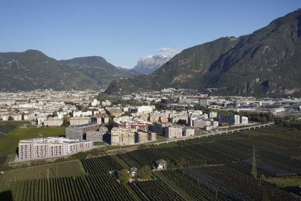 Vista del quartiere Casanova a Bolzano