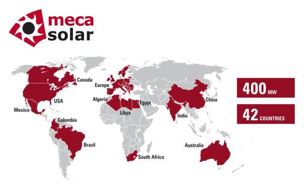 Nel primo semestre 2013 installati più di 400 MW di inseguitori solari Mecasolar