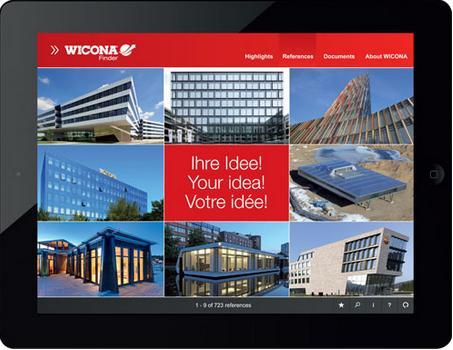 WICONA Finder App per scoprire dettagli tecnici e i prodotti più adatti
