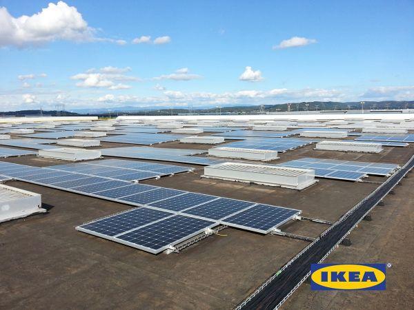 impianto fotovoltaico all'Ikea di Lione