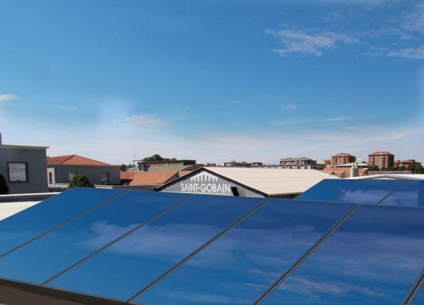 Il fotovoltaico installato sulla copertura dell'Habitat lab