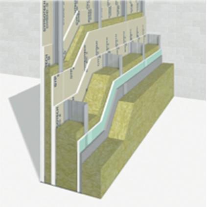 GYPSOTECH® EXTERNA, lastra in cemento alleggerito rinforzato con rete in fibra di vetro