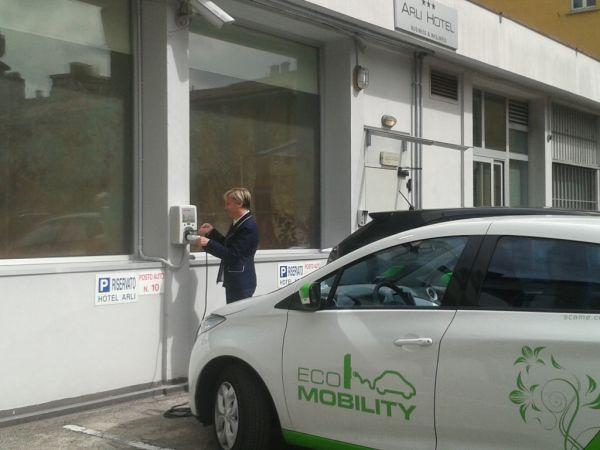 ECO MOBILITY PARKING nell'hotel a Bergamo