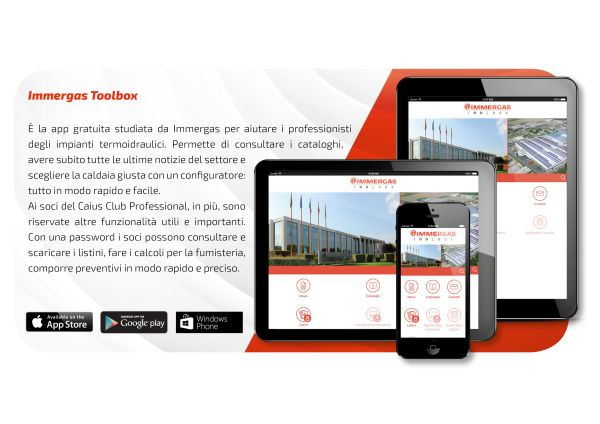 "In casa Immergas arriva la App ""TOOLBOX"""