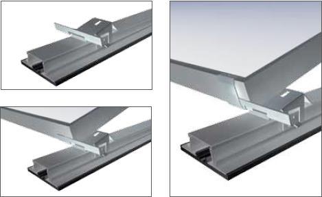 Sistema di montaggio AluGrid di Schletter distribuito da AS Solar