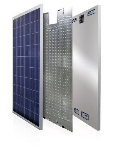 Pannello solare ibrido per la produzione di energia elettrica ed ACS