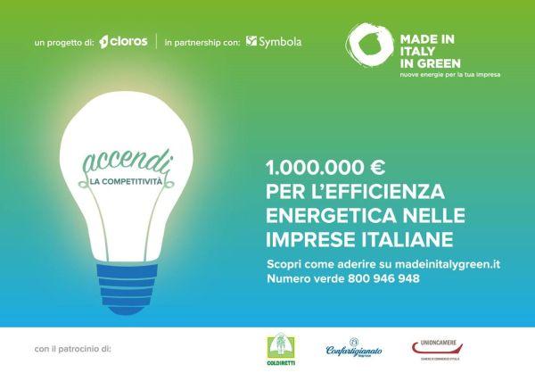 1.000.000 di euro per le PMI che credono in efficienza energetica e investimenti green