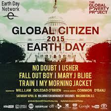 Energia fotovoltaica per alimentare il Global Citizen 2015 Earth Day