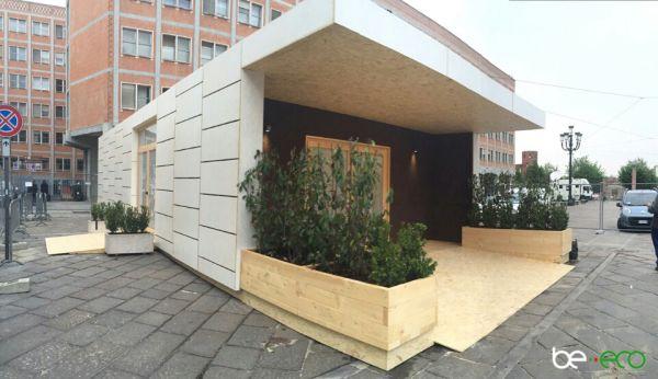 Un'architettura ecosostenibile accoglie i pellegrini in visita all'Ostensione della Sindone 2015