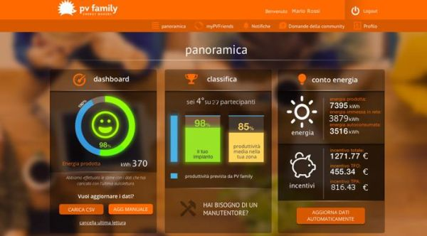 My Solar Family, innovativa app per monitorare i propri impianti fotovoltaici