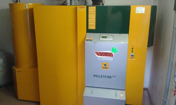 Caldaia a pellet Pelletfire Plus per un condominio di Milano