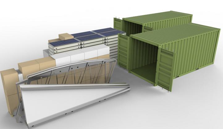 """Tetto modulare che produce energia pulita """"all in one"""""""