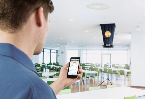 Balometro testo 420 per regolare al meglio l'intero impianto di ventilazione