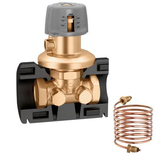 Regolatore di pressione e valvola di preregolazione per ridurre gli sprechi energetici