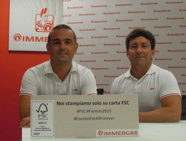 Carta riciclata per i cataloghi Immergas