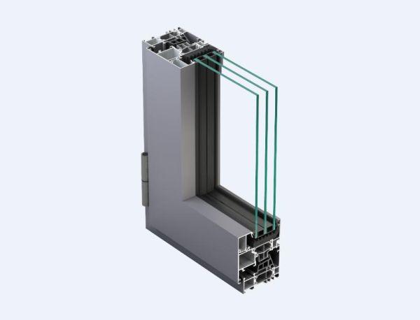 Massimo isolamento termico per il sistema a battente di METRA, NC 65 STH HES