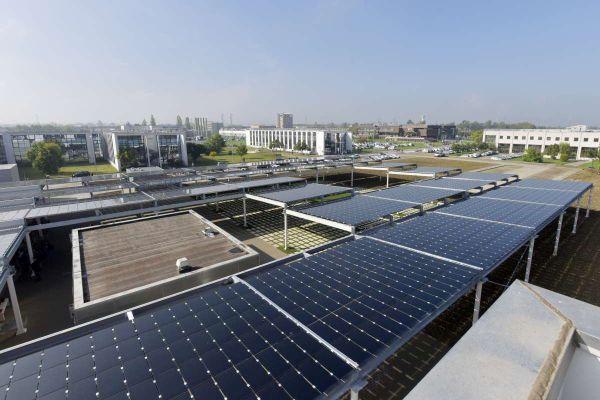 Inaugurata la piazza - giardino fotovoltaica all'Università di Parma