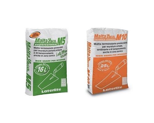 Malte termoisolanti, antisismiche ed ignifughe