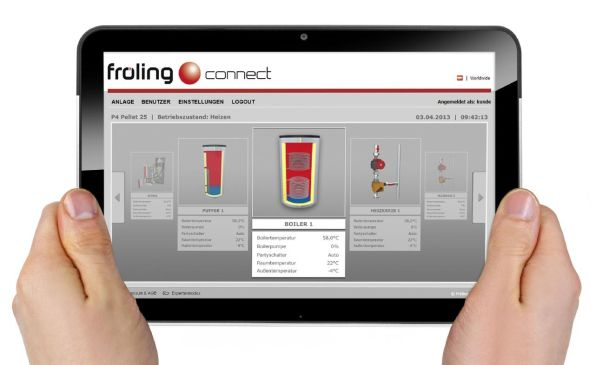 Controllo on line Froeling-connect.com