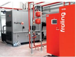 Sistema di riscaldamento per la combustione di diversi materiali in legno