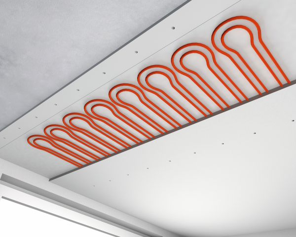Sistema radiante a soffitto per riqualificazioni efficienti