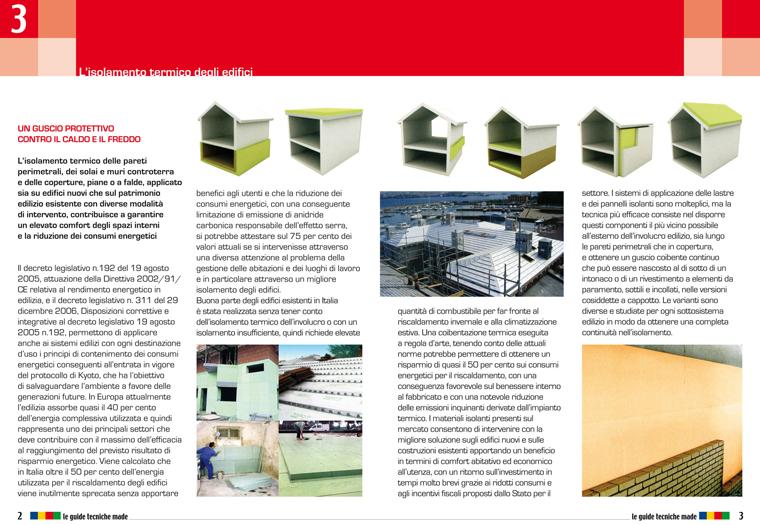 Guida tecnica MADE sull'isolamento termico degli edifici