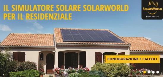 Simulatore di energia per il miglior impianto fotovoltaico