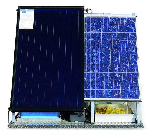 L'isola solare di Atag Italia: fotovoltaico, solare termico e condensazione in un'unica struttura