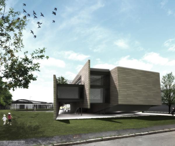 Edificio concepito come organismo completo e flessibile, ad elevata permeabilità 1