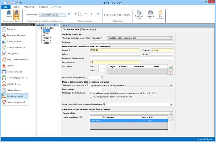 EC781: software Edilclima regione Piemonte