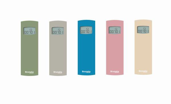 Ripartitori di calore colorati e di design