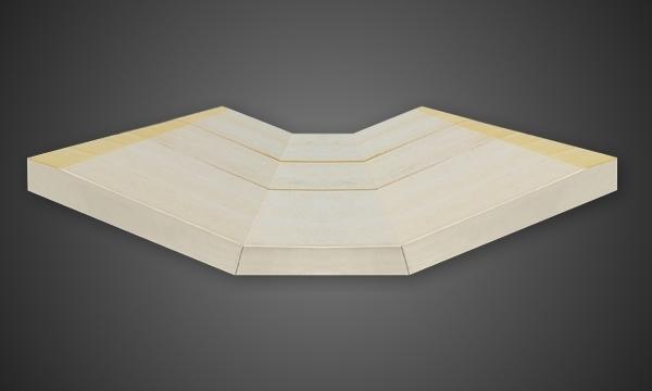 POLIISO SU MISURA: elementi prefabbricati per isolamento di coperture
