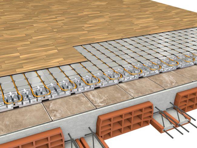 Sistema radiante a secco che scalda la casa in soli 4 CM