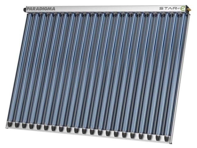 Pannello solare sottovuoto Star di Paradigma per la produzione di acqua calda sanitaria
