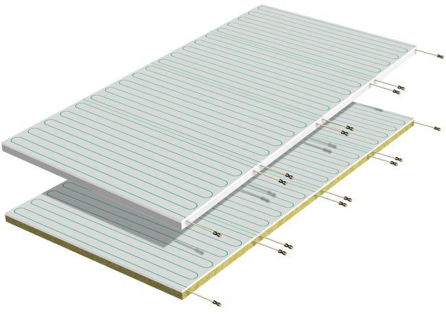 Pannelli radianti b!klimax+ per installazione a soffitto