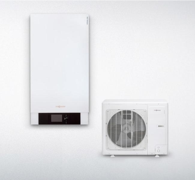 Vitocal 100-S: pompa di calore slittata aria e acqua reversibile