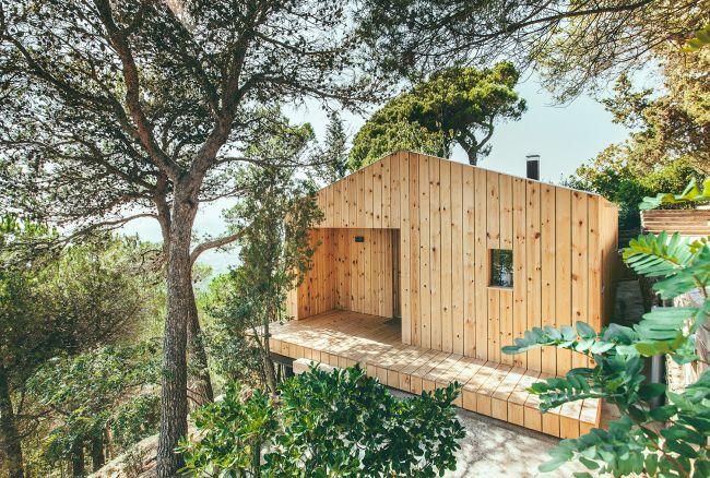 Casa de Madera edificio prefabbricato sostenibile