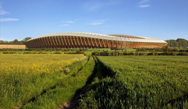 Eco Park Stadium: lo stadio interamente in legno di Zaha Hadid Architects