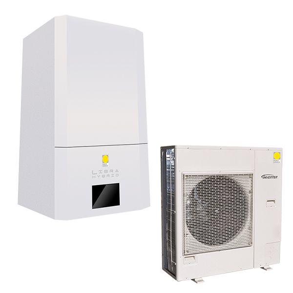 Sistema ibrido pompa di calore + caldaia
