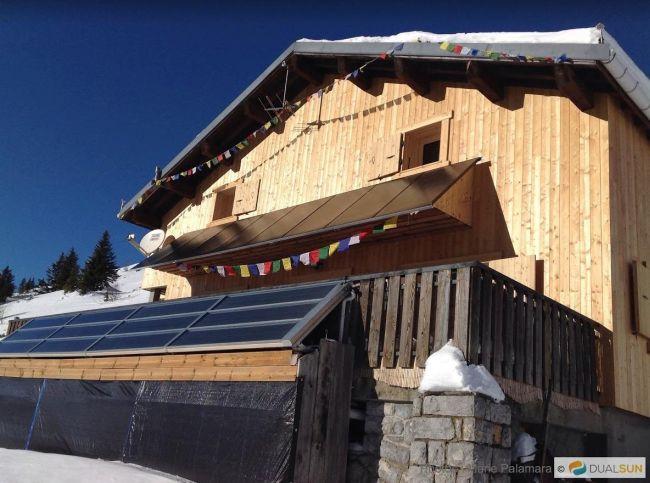 Pannelli fotovoltaici per il rifugio in montagna
