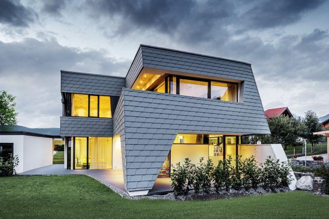 Abitare in una villa sostenibile e di design