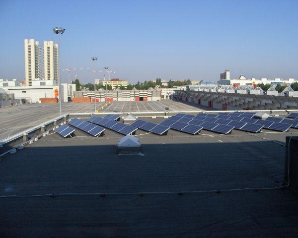L'energia fotovoltaica sul tetto di Bolognafiere