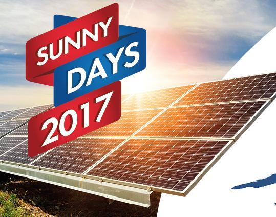 Tutte le novità del settore fotovoltaico ai Sunny Days