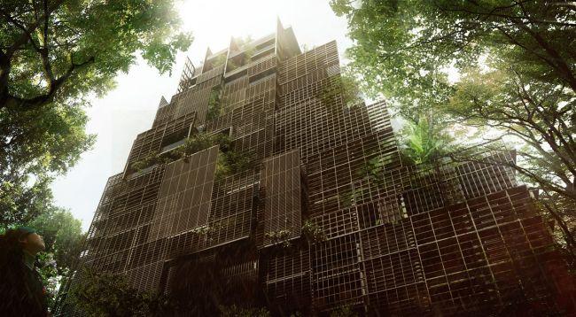 Un edificio paesaggio nel centro di San Paolo