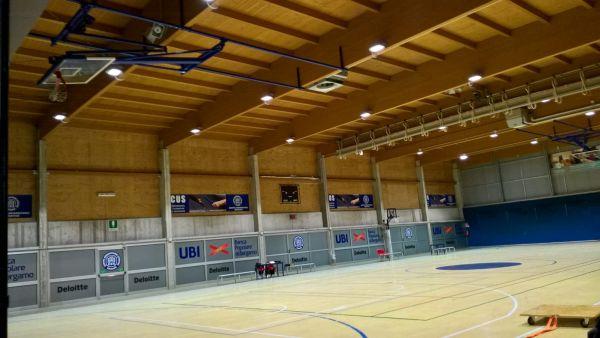 Illuminazione efficiente per il Centro Sportivo dell'Università di Bergamo