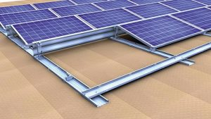 Sistema di montaggio per tetti piani orientati a sud Novotegra