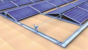 Sistema di montaggio per tetti piani est-ovest Novotegra
