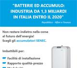 Accumulo: industria da 1,3 miliardi in Italia entro il 2020 9